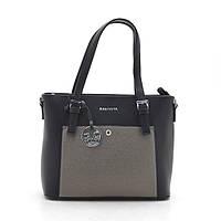 Женская сумка 7333 черная с золотой вставкой