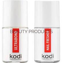 Ultrabond Kodi и Nail Fresher Kodi 15мл. Набор бескислотный праймер и обезжириватель для ногтей