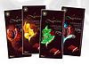 Шоколад черный Luximo с кусочками клубники Польша 100г., фото 3