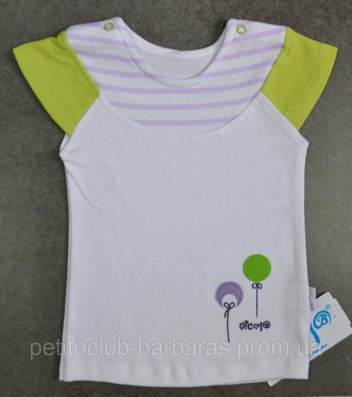 Детская летняя футболка для девочки р. 74-92 см (Nicol, Польша)