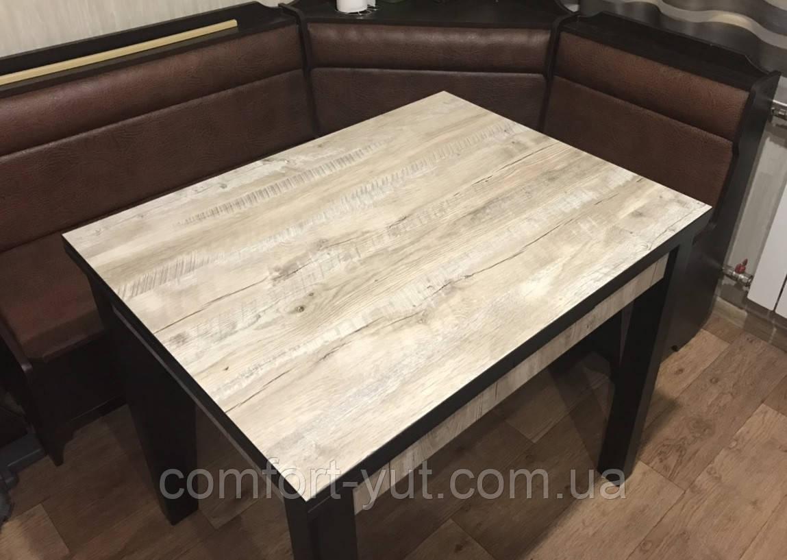 Стол обеденный Марсель 90(+35+35)*70 венге - Клондайк