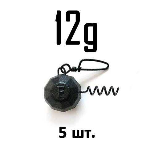 ШТОПОР ГРАНЁНЫЙ Fanatik цвет: BLACK  12 г. 5 шт.