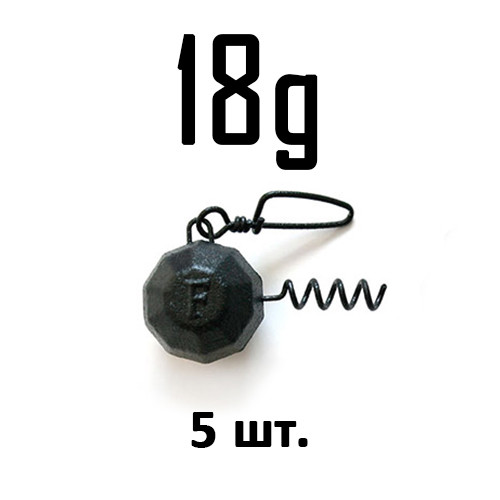 ШТОПОР ГРАНЁНЫЙ Fanatik цвет: BLACK  18 г. 5 шт.