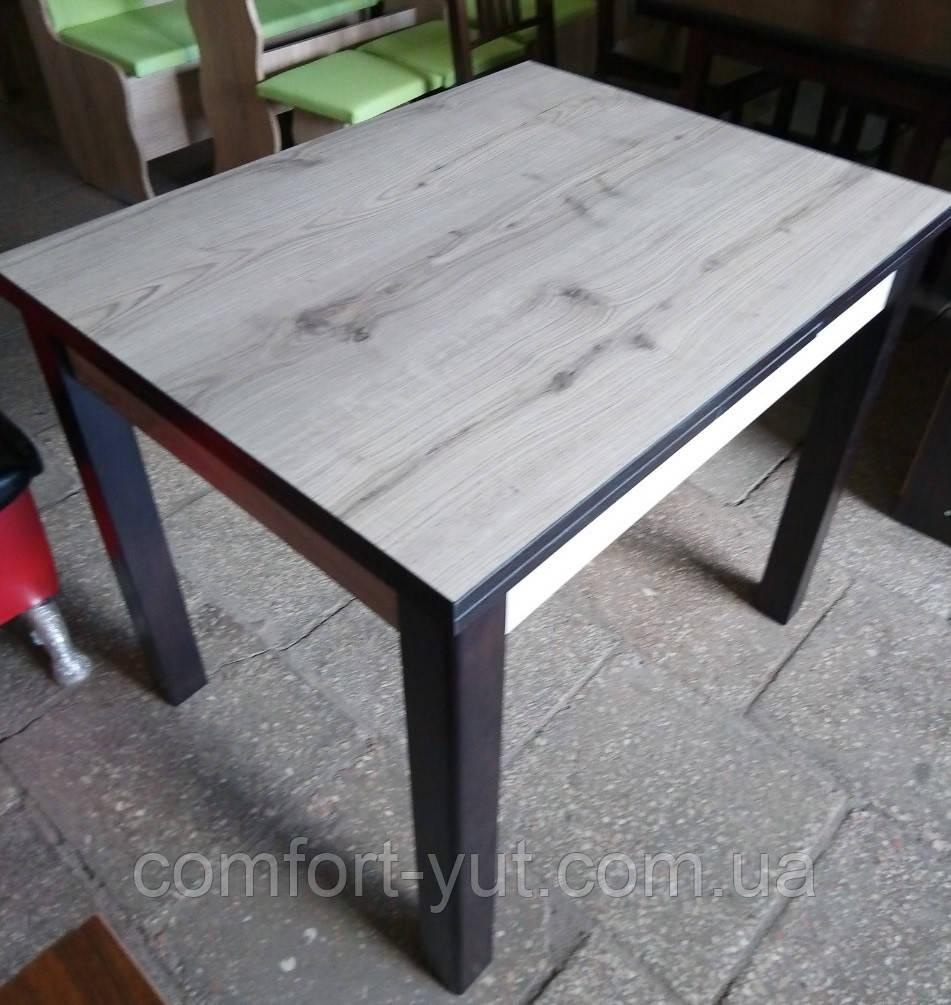 Стол обеденный Марсель 90(+35+35)*70  венге - Дуб Бельвер