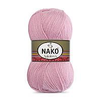 Пряжа Nako Nakolen 5 275 розовый (нитки для вязания Нако Наколен 5) 49% шерсть - 51% премиум акрил