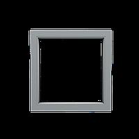 Металлопластиковое окно Steko. Глухое, 1000х1000, профиль S300 (3-камерный), с энергосберегающим стеклом.