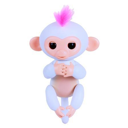 Электронная обезьянка на палец, серо-голубой