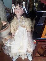 Шикарная большая фарфоровая кукла