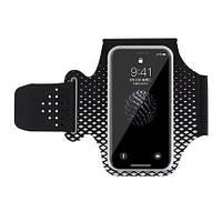 Чехол на руку для смартфона из лайкры для занятий спортом Jin Essential черный, фото 1