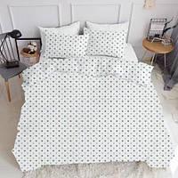 Комплект полуторного постельного белья LOVE BLUE WHITE (хлопок, ранфорс), фото 1