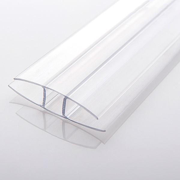 Профиль соединительный неразъемный, прозрачный, 6 м, для листов поликарбоната 16 мм