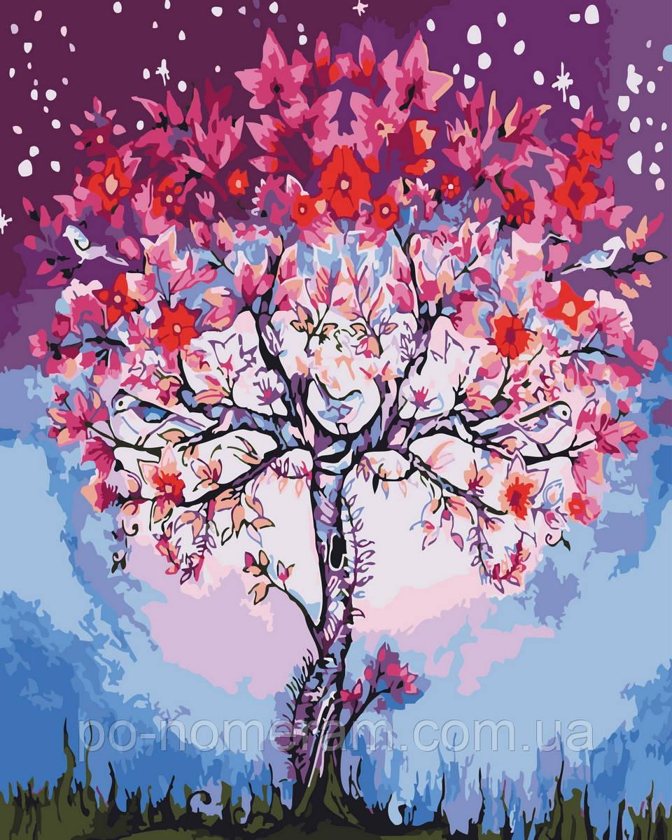 Раскраска для взрослых Волшебное дерево (BK-GX26711) 40 х ...