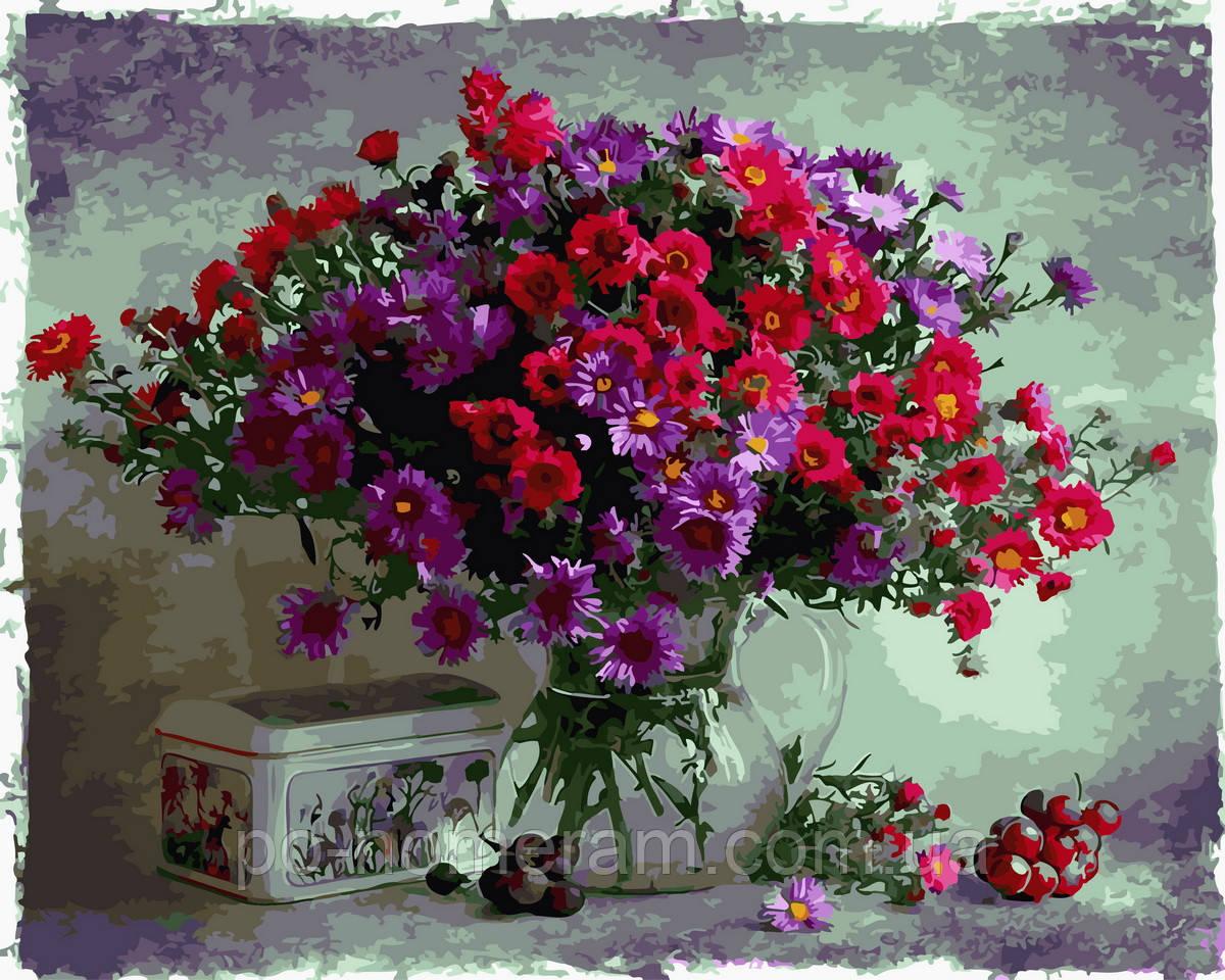 Раскраска для взрослых Цветочный натюрморт (BK-GX29123) 40 ...