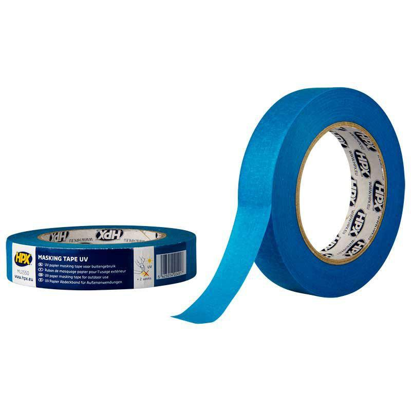Синяя маскирующая малярная лента для наружных работ - НРХ UV 25мм.x25м. (MU2525)