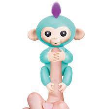 Электронная обезьянка на палец, бирюзовый