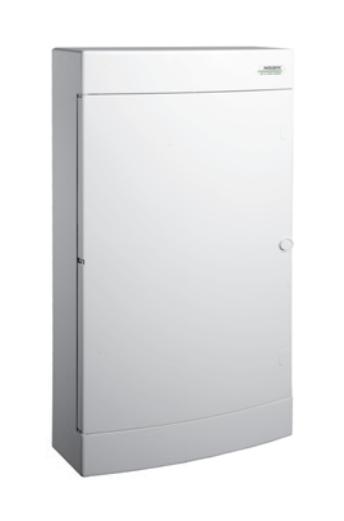 Модульный щиток, 12 модулей, 1 ряд, IP40, PNS 12W, белая дверца