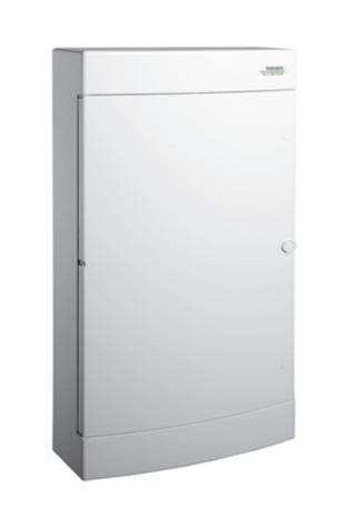Модульный щиток, 12 модулей, 1 ряд, IP40, PNS 12W, белая дверца, фото 2