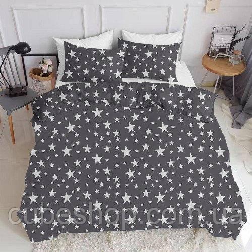 Комплект полуторного постельного белья STARSFALL BIG GREY (хлопок, ранфорс)