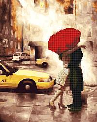 Алмазная картина Поцелуй возле такси (GZS1015) 40 х 50 см Rainbow Art [Без коробки]