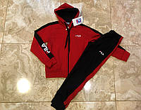 Спортивный костюм FILA  для мальчика. Красный. Турция.