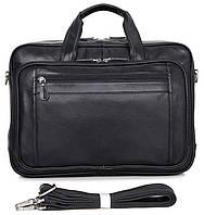 Сумка мужская Vintage 14398 для ноутбука 17 дюймов Черная, Черный