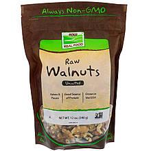 """Сырые грецкие орехи NOW Foods, Real Food """"Raw Walnuts"""" не соленые (340 г)"""