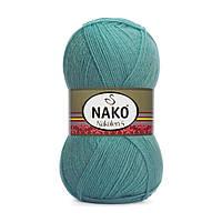 Пряжа Nako Nakolen 5 2979 лазурный (нитки для вязания Нако Наколен 5) 49% шерсть - 51% премиум акрил