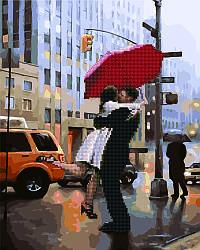 Алмазная картина Пара под зонтом (GZS1021) 40 х 50 см Rainbow Art [Без коробки]