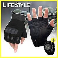 Тактические перчатки Oakley + Армейские часы Swiss Army в Подарок