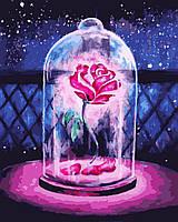 Картина по номерам Роза в колбе