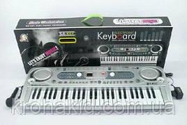 Детский синтезатор / пианино / орган MQ 020 FM - FM радио + микрофон - от сети - 54 клавиши