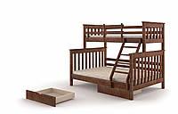 Двухярусная деревянная кровать для детей Скандинавия