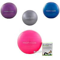 Фитбол (Мяч для фитнеса, гимнастический) глянец Profiball 65 см (MS 1576), фото 1