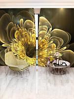 Фотоштора Walldeco Золотой цветок (24172_1_1)
