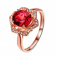 """Кольцо """"Lacoste"""" позолоченное с кристаллами swarovski"""