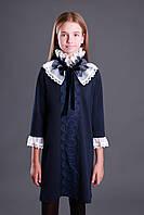 Платье Mone 1913-2 трикотаж кружева со съемным воротником рукав 3/4