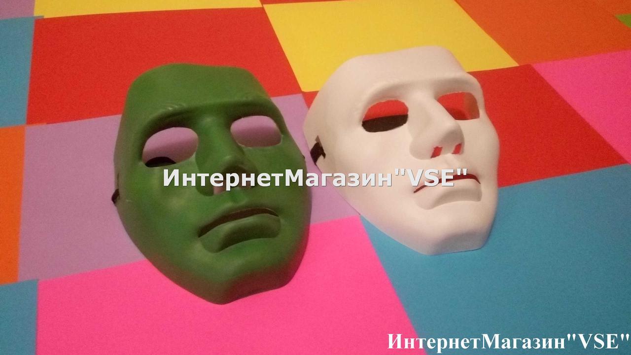 Карнавальна маска Маска Кабукі зелена
