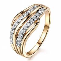 """Кольцо """"Brioni"""" позолоченное с кристаллами swarovski"""
