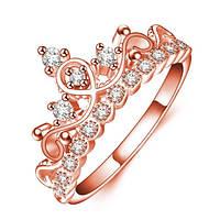 """Кольцо """"McQueen"""" позолоченное с кристаллами swarovski"""