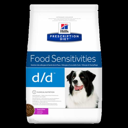 Hill's Prescription Diet Canine D/D для лікування свербежу будь-якої етіології у собак, з качкою і рисом, 2 кг