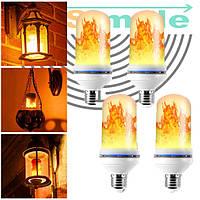 Лампа LED Flame Bulb А+ с эффектом пламени огня, E27 | необычная лампочка пламя