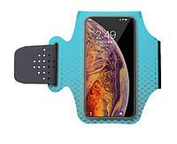 Чехол на руку для смартфона для занятий спортом Jin Essential бирюзовый, фото 1