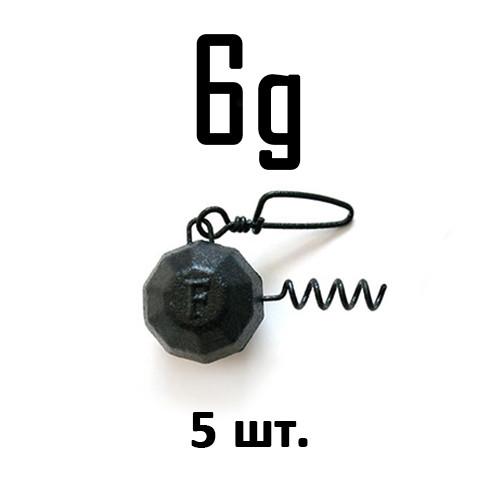 ШТОПОР ГРАНЁНЫЙ Fanatik цвет: BLACK  6 г. 5 шт.
