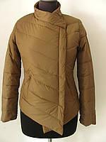 Куртка демисезонная косуха без капюшона на молнии  (р.L)  Код 4616М