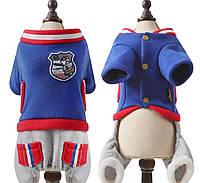 Зимний комбинезон Свитер Футболка майка боксёрка жилетка летняя одежда для собак комбинезон боксерка
