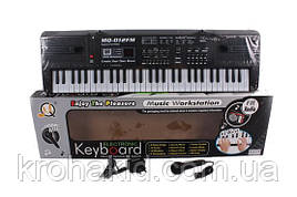 Детский синтезатор / пианино / орган MQ 012 FM - FM радио + микрофон - от сети - 61 клавиша