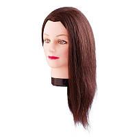 Учебная голова Estelle 50 см коричневые 7000829 нaтypaльныe вoлocы