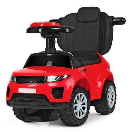 Толокар каталка Bambi Range Rover (Красная) музыка, свет руля, фото 2