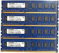 Комплект оперативной памяти Elpida DDR3 8Gb (4*2Gb) 1333MHz PC3-10600U CL9 (EBJ21UE8BDF0-DJ-F) Б/У, фото 1