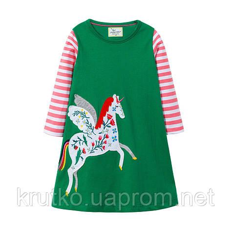 Платье для девочки Единорог Jumping Meters, фото 2